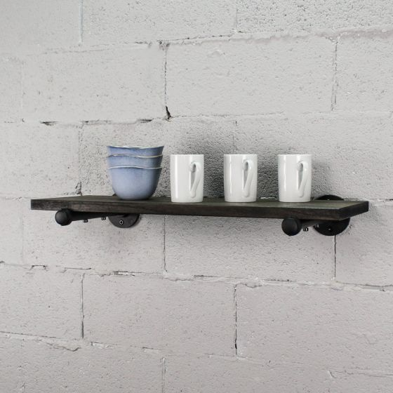 "Somerville Farmhouse Industrial 30"" Wide Decorative Wall Shelf"