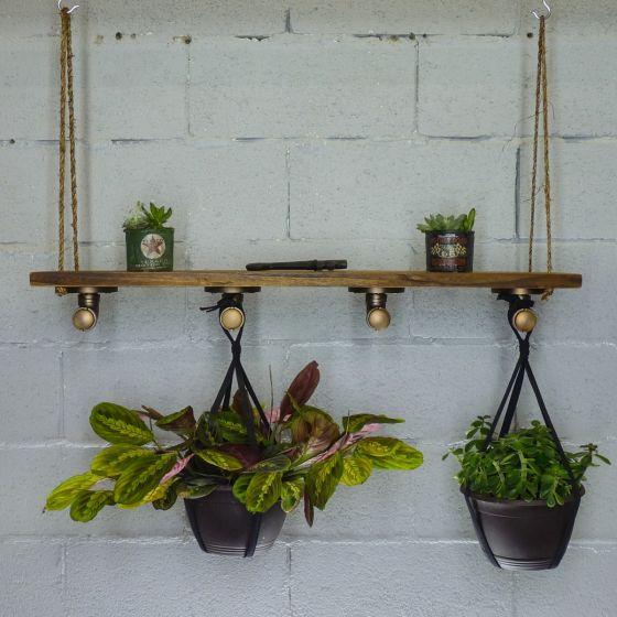 Portland Industrial Chic Hanging Shelf Planter