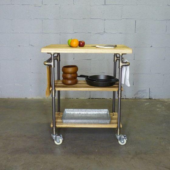 Hoboken Rustic Kitchen Cart