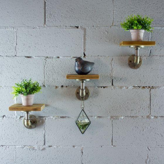 Ames 3-Piece Industrial Chic Decorative Shelf