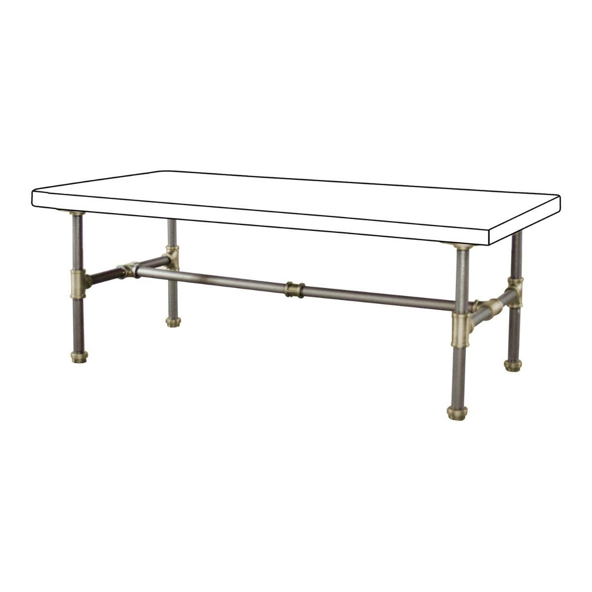 Corvallis Diy Coffee Table Metal Frame Pipe Furniture Kit