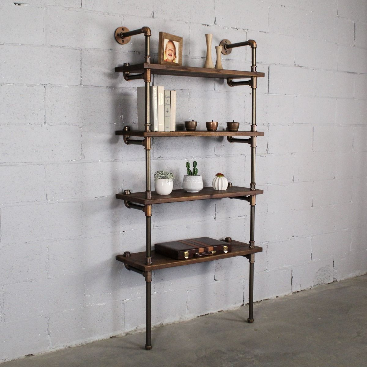 Sacramento Industrial Chic 33 Wide 4 Tier Etagere Bookcase