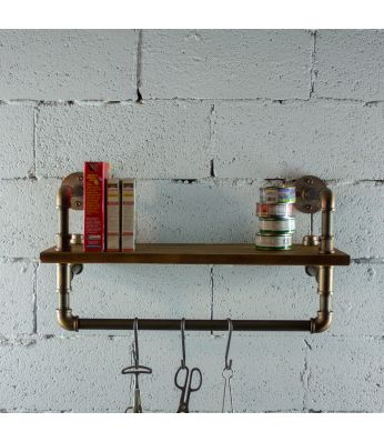 Ann Harbor Farmhouse Industrial 27-Inch Wide Shelf Rack