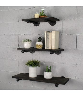 "Louisville Farmhouse, 18"", 24"", 30"" Wide, Set of 3, Decorative Wall Shelf"