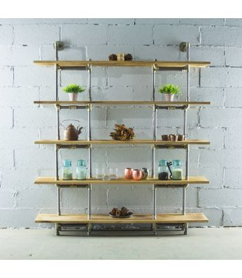 Eugene Modern Industrial Bookcase
