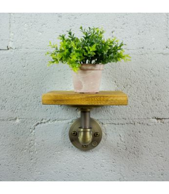 Ames Industrial Chic Decorative Shelf