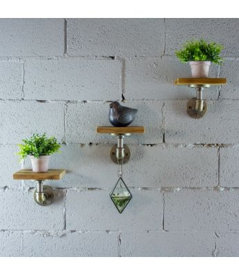Ames 3-Piece Industrial Chic Decorative Shelf