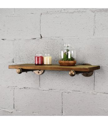 "Somerville Farmhouse Industrial 24"" Wide Decorative Wall Shelf"