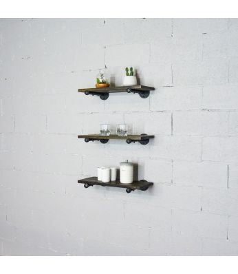 Colorado Springs 3-Piece 18-Inch Industrial Farmhouse Wall Shelf Bundle