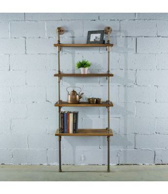 "Sacramento Industrial Chic 27"" Wide Etagere Bookcase Display"